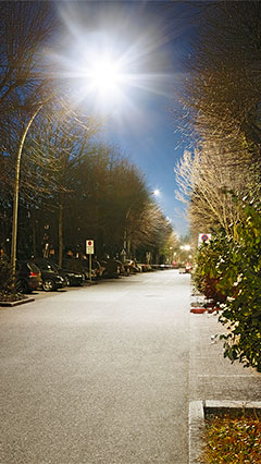 Philips Lighting gives bright lights to the road in parking area of  Asklepios Clinic St. George