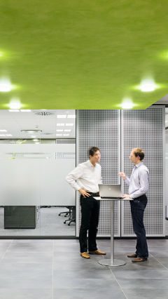 Meeting points at Audi offices, Germany, lit with Philips office lighting