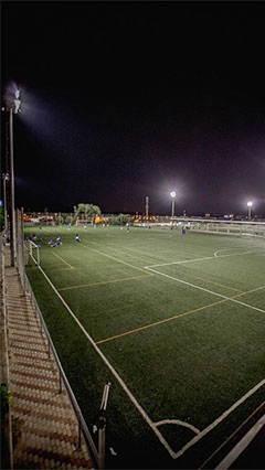 Sports field at Rivas, Spain lit by Philips