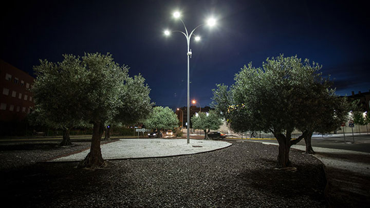 Urban area at Rivas, Spain illuminated with Philips outdoor lighting
