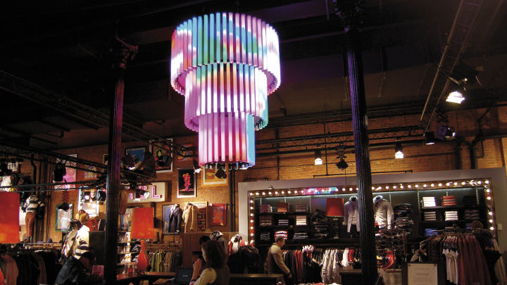 Fashion store illuminated with Philips AmbiScene lighting